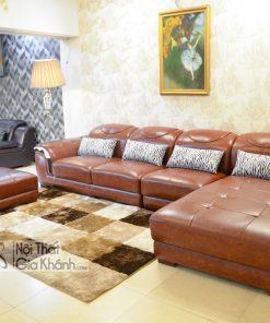 Bộ Sofa (So Pha) Góc Bằng Da 3 Băng Nhập Khẩu Cao Cấp Sf919-3B