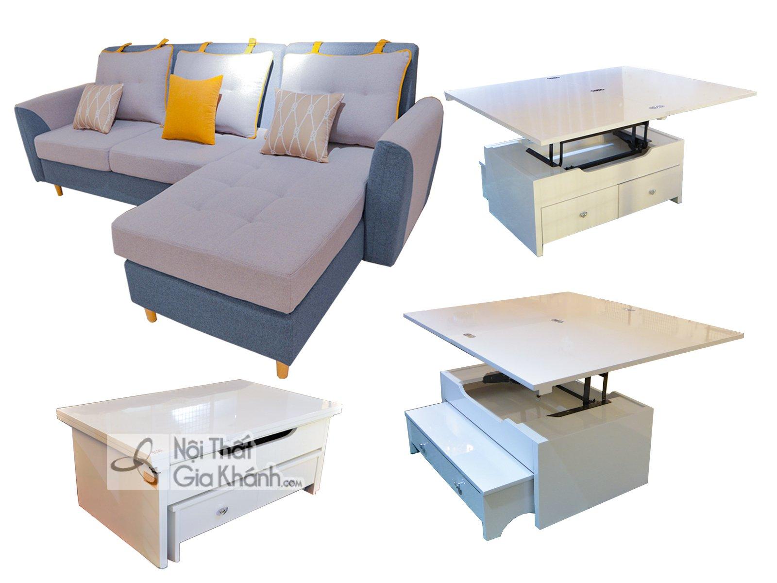 Bộ sofa nỉ kết hợp bàn đa năng SF309-801BT