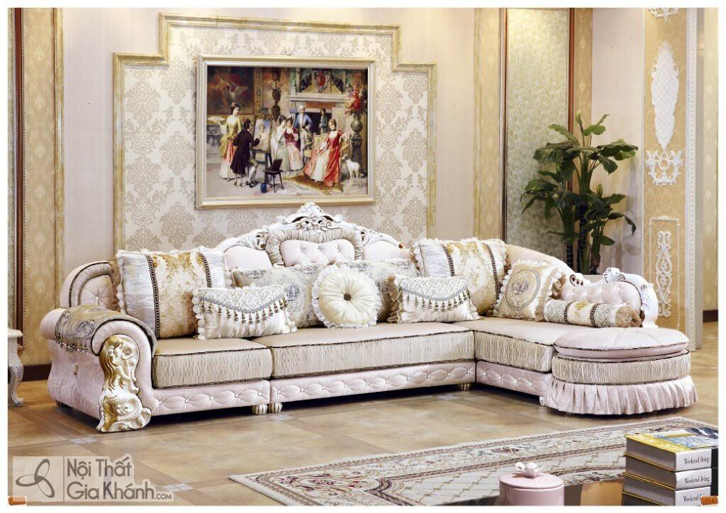 Bộ Sofa Nỉ Tân Cổ Điển Góc Trái St5133-3