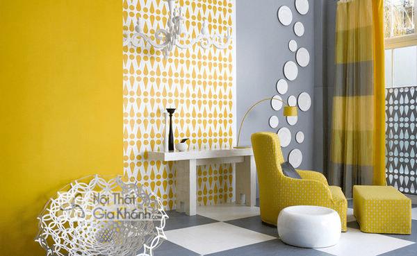 Mẫu Nhà Sơn Tường Màu Vàng Đậm