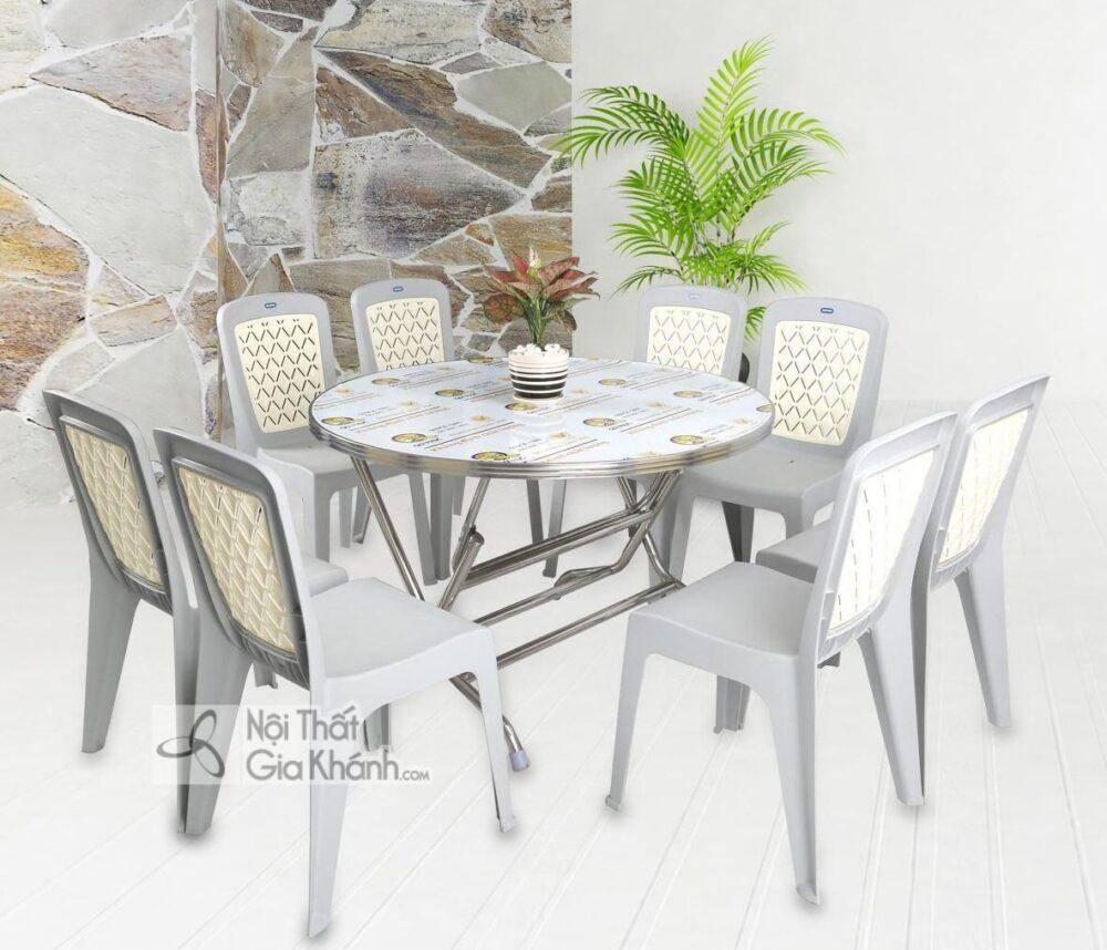 Mẫu ghế nhựa bàn ăn đẹp phù hợp với các căn hộ chung cư