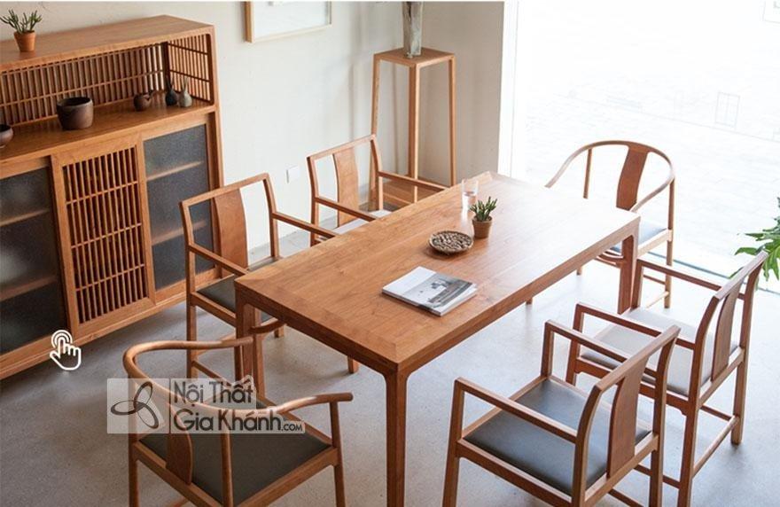 Ghế ăn gỗ sồi với đường nét uốn cong đẹp mắt