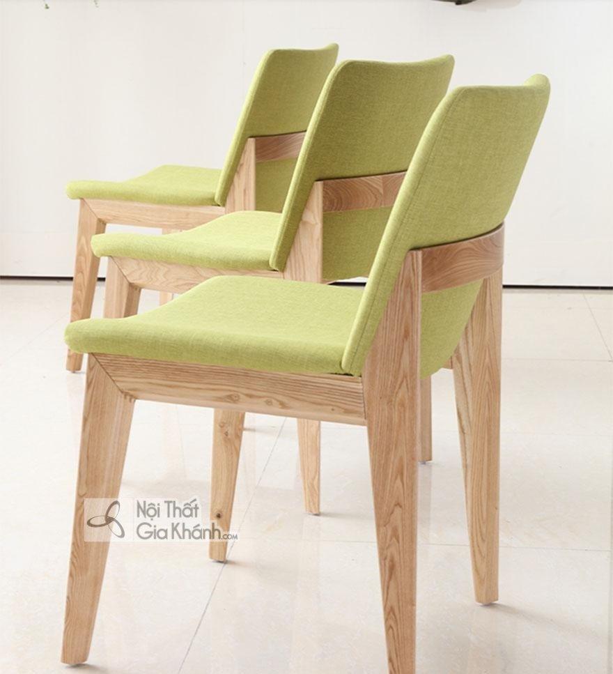 Ghế ăn gỗ sồi bọc vải nỉ