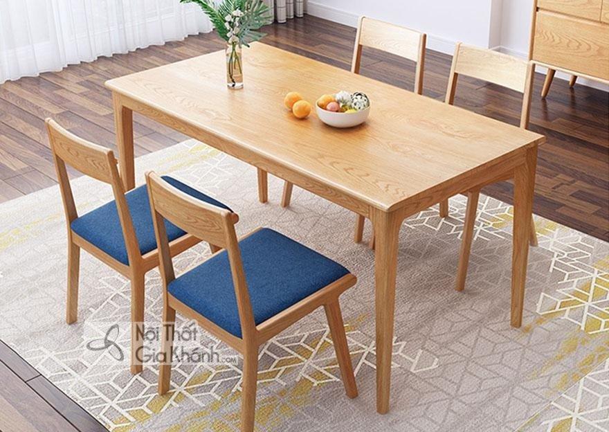Ghế ăn gỗ sồi đơn giản mà đẹp mắt