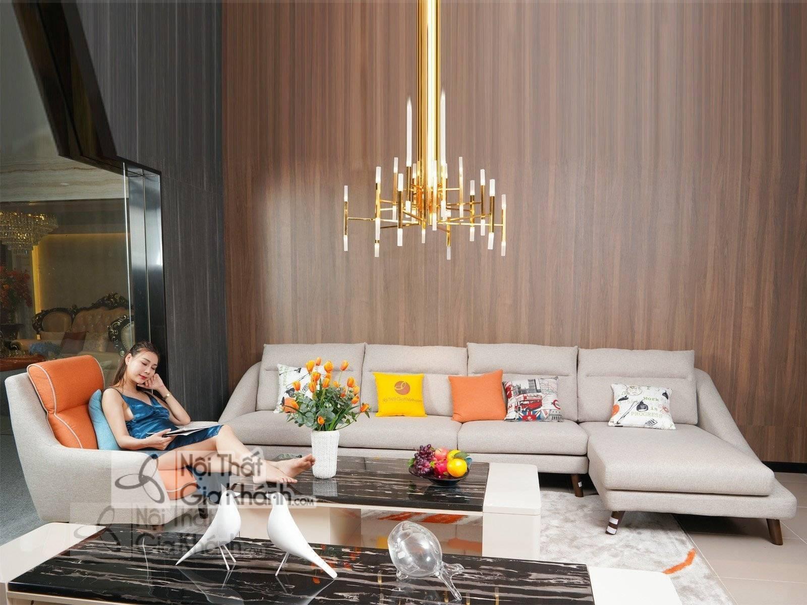 Bộ sofa nỉ phòng khách nhập khẩu 3307SF