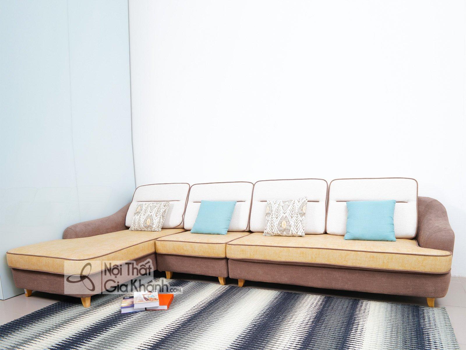 Sofa 3 Băng Góc Phải Nỉ Nano Cao Cấp S1607Sf