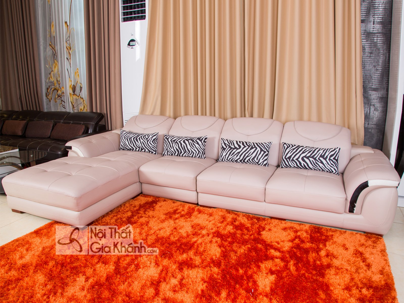 sofa da hien dai 9192k sf - BỘ SOFA (SO PHA) GÓC BẰNG DA 3 BĂNG NHẬP KHẨU CAO CẤP SF919-3B