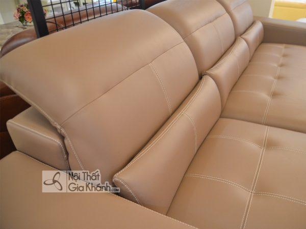 Sofa Da Thật Hà Nội Màu Nâu 2 Băng Góc Phải 6758N-Sf