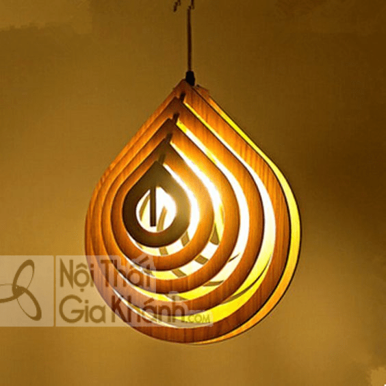 Đây Là Một Chiếc Đèn Led Bằng Gỗ Được Cách Điệu Từ Hình Giọt Nước.