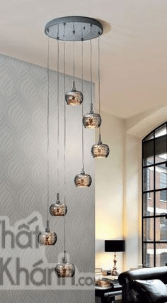 Mẫu đèn thả này phù hợp với không gian tân cổ điển