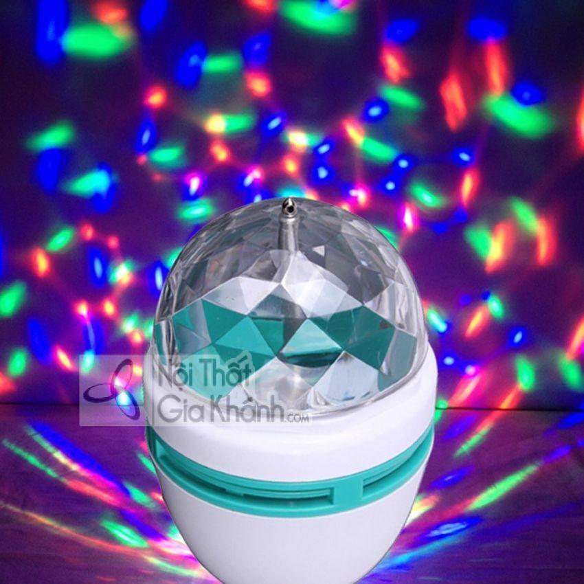 Đèn Led Trang Trí 7 Màu Quả Cầu Xoay