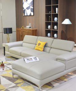 Ghế Sofa Da Góc Trái  Đẹp Hiện Đại 2 Băng 1060Sf2Gt