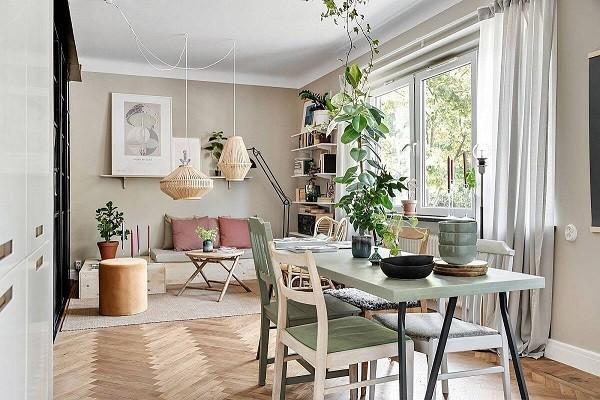Mẫu thiết kế phòng ăn đẹp hoàn hảo cho gia đình ít người