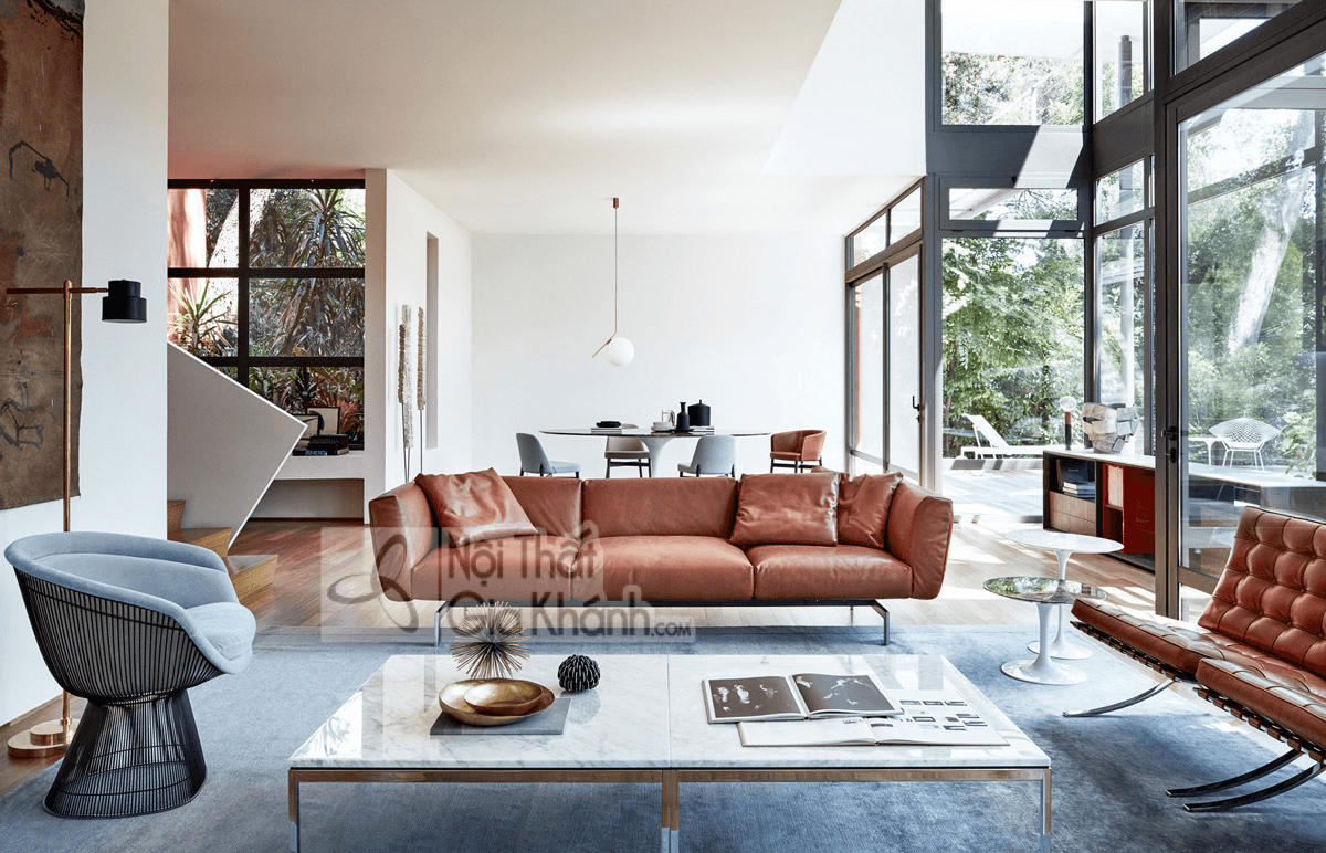 Ghế Sofa Màu Nâu Tạo Nên Sự Tương Phản Đặc Biệt