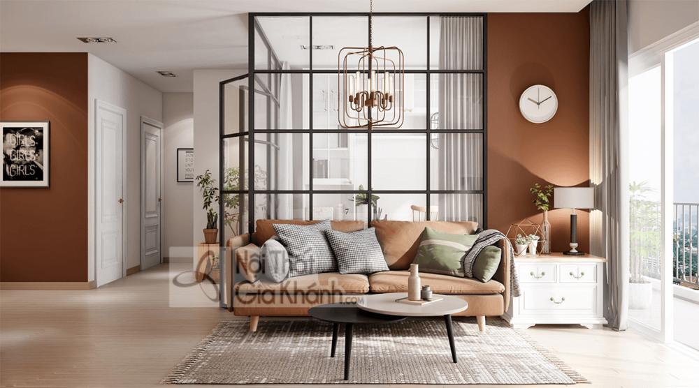 Mẹo trang trí phòng khách với ghế sofa màu nâu