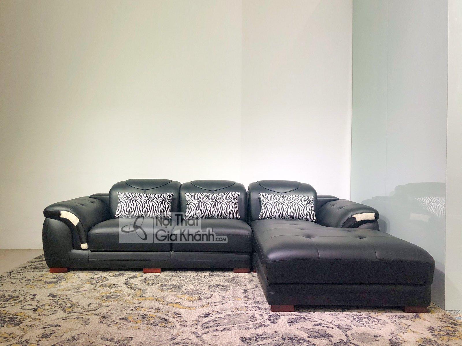 sofa da 2 bang goc trai mau den cho phong khach 9193d sf 5 - Sofa da phòng khách 2 băng góc trái ST0919-2-C1