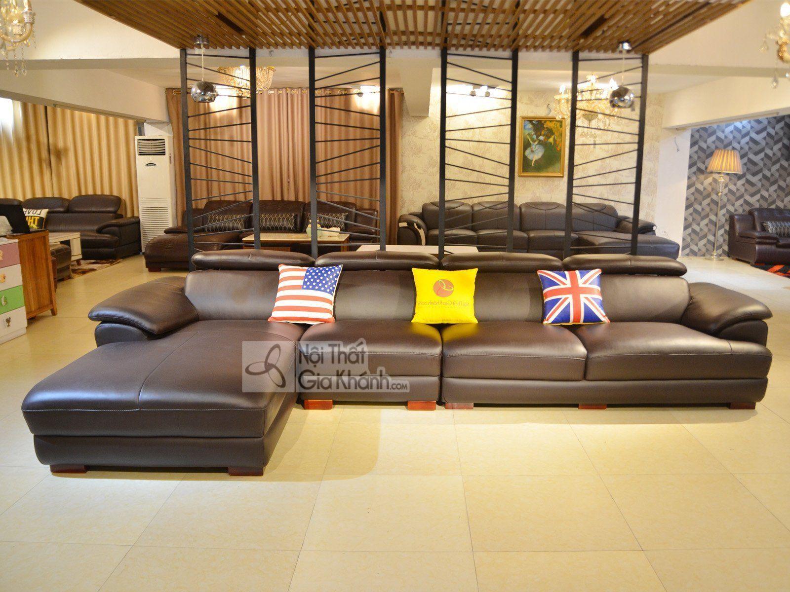 Sofa da góc chữ L cao cấp 3 băng nhập khẩu SF933-3B