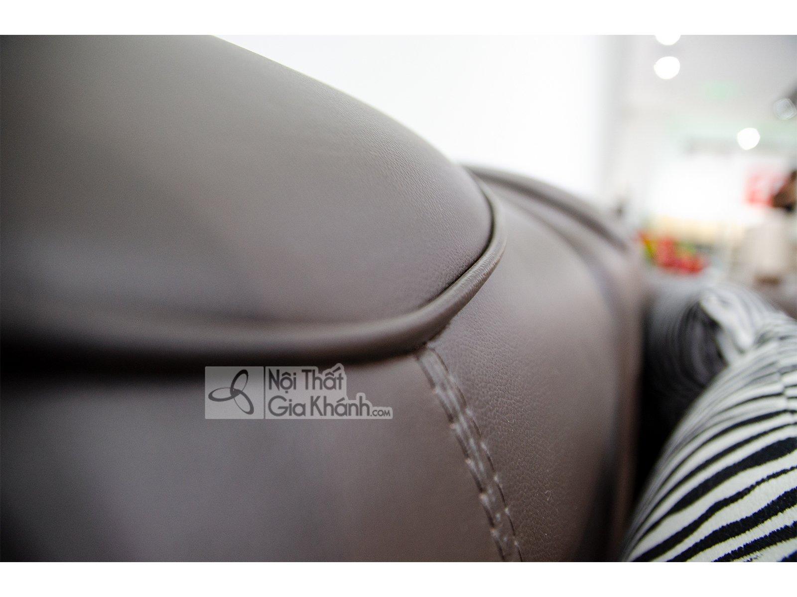 sofa da nau cafe 2 bang goc trai 9193n sf 2 - Sofa da hiện đại cho phòng khách SP0919-2-A1