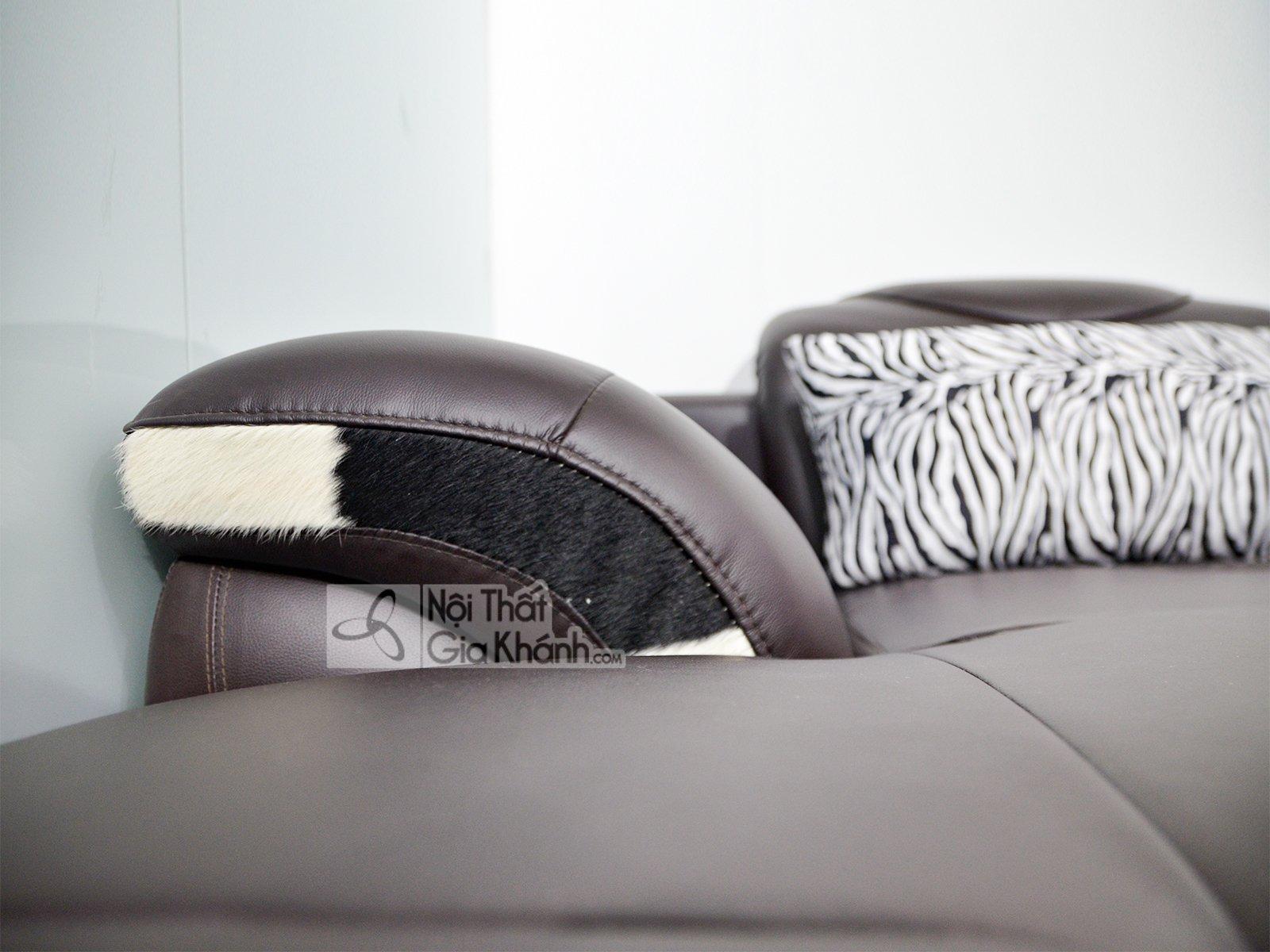 sofa da nau cafe 2 bang goc trai 9193n sf 3 - Sofa da hiện đại cho phòng khách SP0919-2-A1