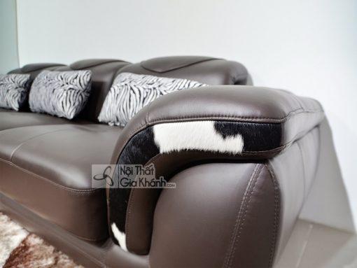 Sofa Da Nâu Cafe 2 Băng Góc Trái 9193N-Sf