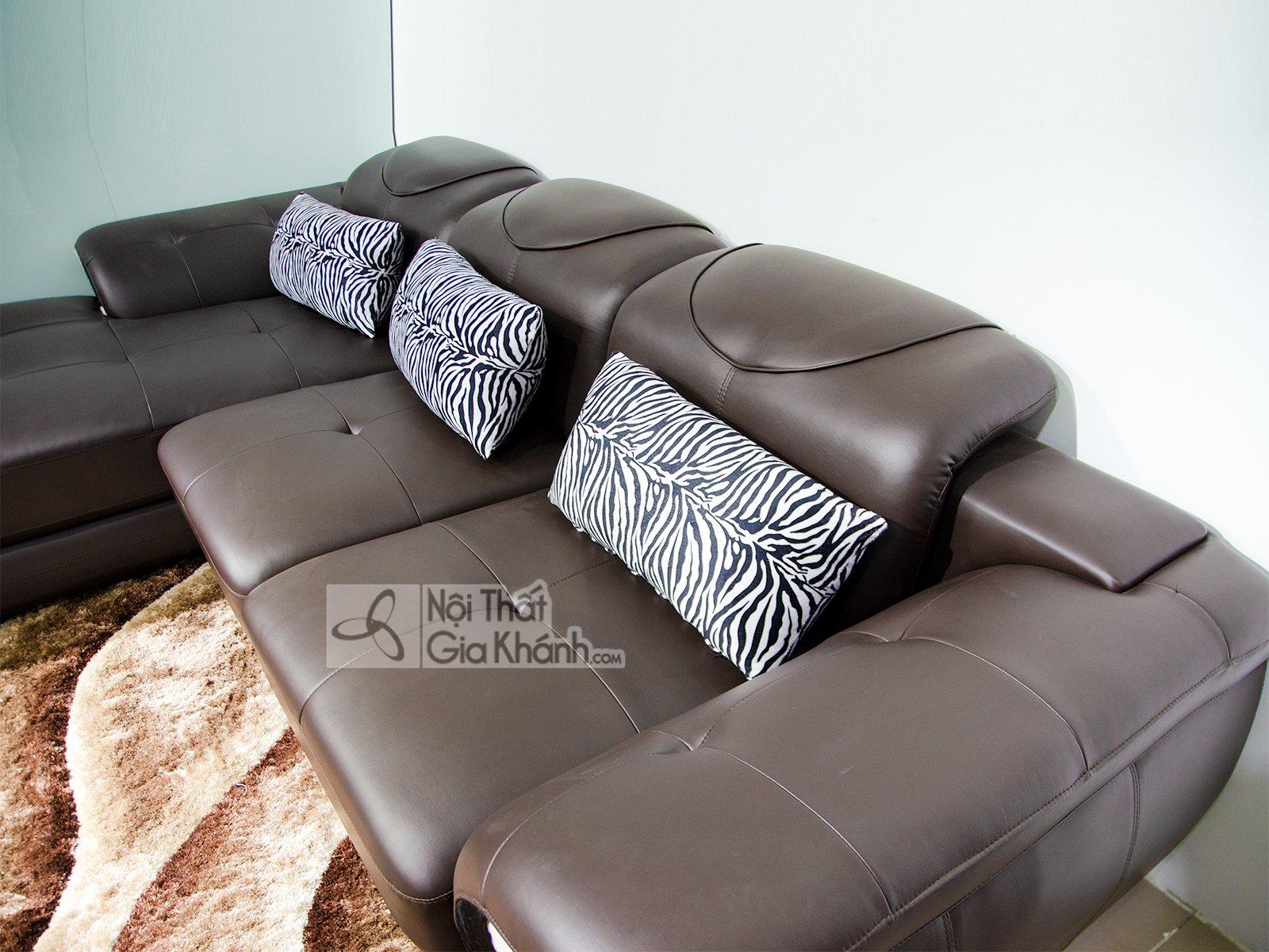 sofa da nau cafe 2 bang goc trai 9193n sf 5 - Sofa da hiện đại cho phòng khách SP0919-2-A1