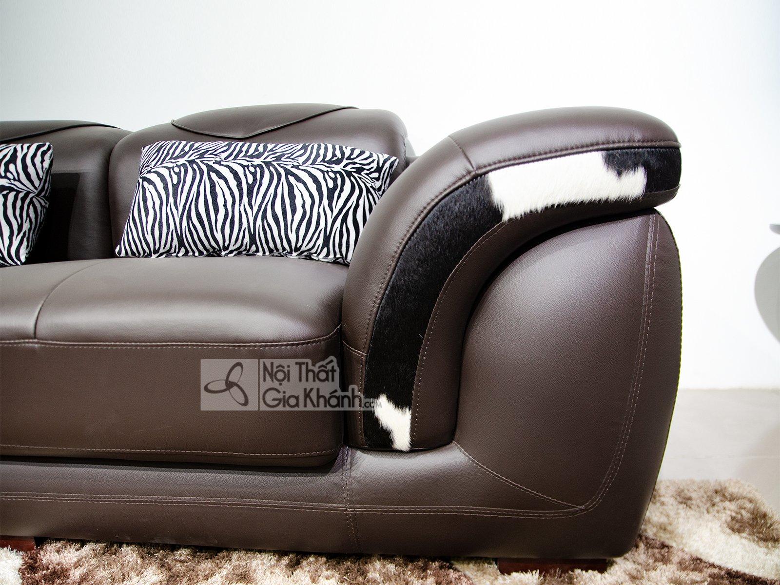 sofa da nau cafe 2 bang goc trai 9193n sf - Sofa da hiện đại cho phòng khách SP0919-2-A1