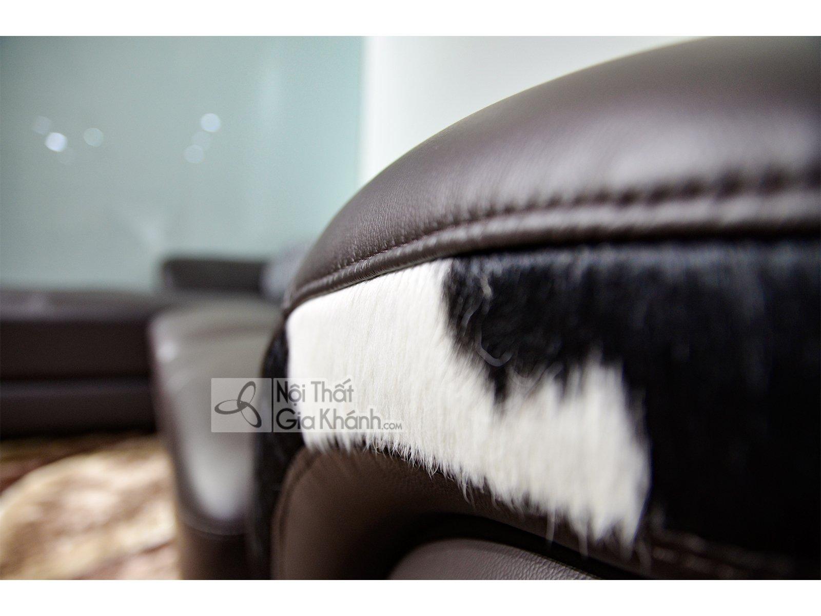 sofa gia dinh bang da 2 bang nau cafe goc phai 9194n sf - Sofa da hiện đại cho phòng khách SP0919-2-A1