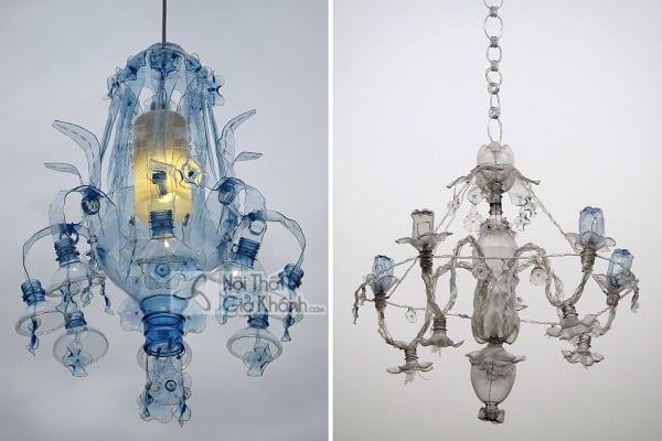 """Làm đèn chùm từ chai nhựa đơn giản khiến bạn """"mắt tròn mắt dẹt"""""""