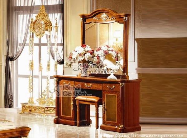 Bàn trang điểm gương vuông thanh lịch cho quý cô ưa nhẹ nhàng - ban trang diem guong vuong thanh lich cho quy co ua nhe nhang