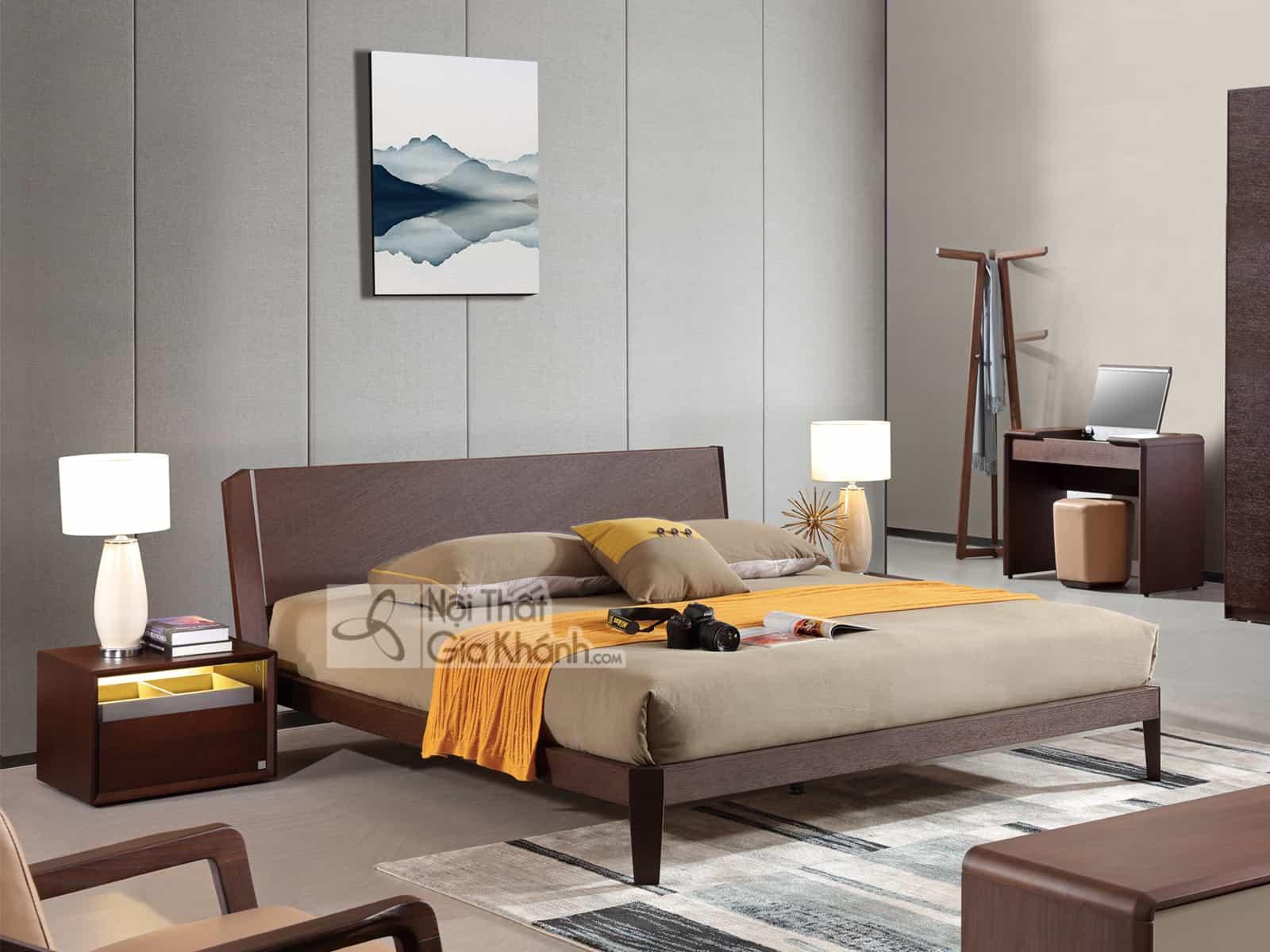 Giường Ngủ 1M5 Gỗ Đơn Giản Nhập Khẩu Gi1806-15