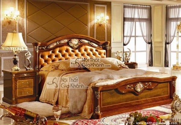 Giường Ngủ Gỗ Sồi Sang Trọng