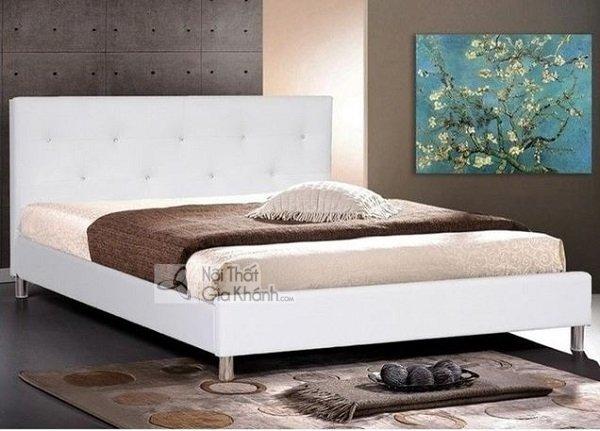 Mẫu Giường Ngủ Trắng Đẹp Đơn Giản