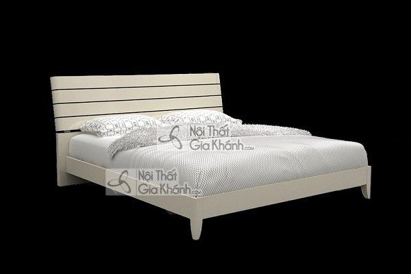 Giường Ngủ Gỗ Hiện Đại Màu Trắng
