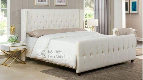 Giường Ngủ Màu Trắng Thiết Kế Đẹp