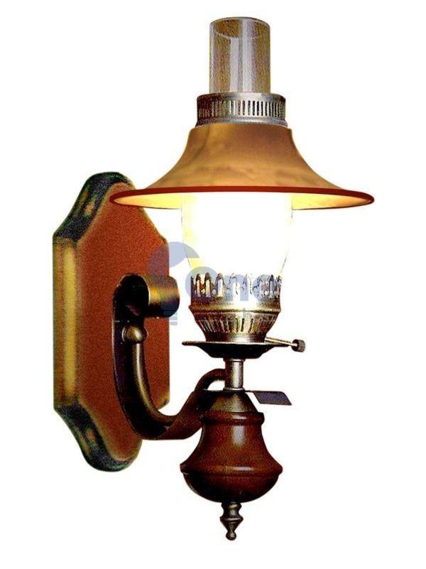 Đèn trang trí cột nhà kiểu đèn dầu tân cổ điển