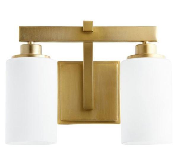 Mẫu đèn cột trang trí trong nhà mạ vàng sang trọng