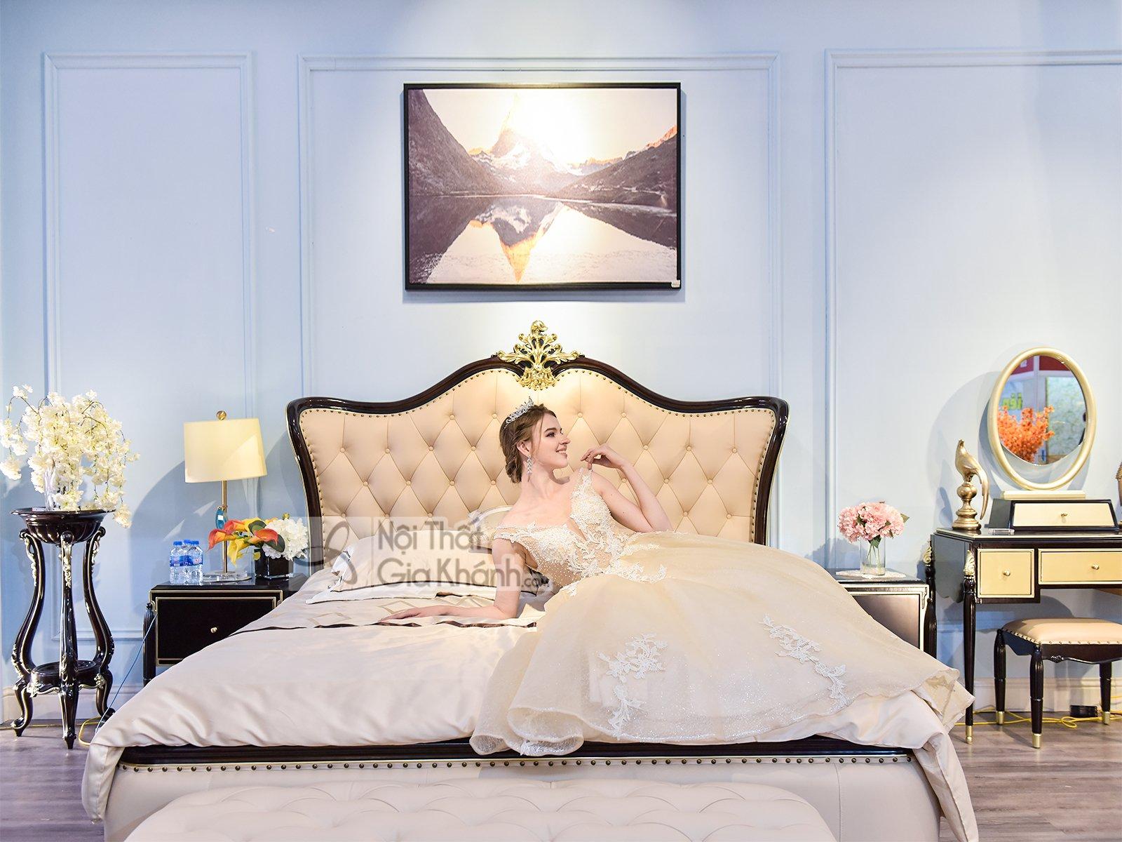 Bộ giường ngủ tân cổ điển nhập khẩu BN302