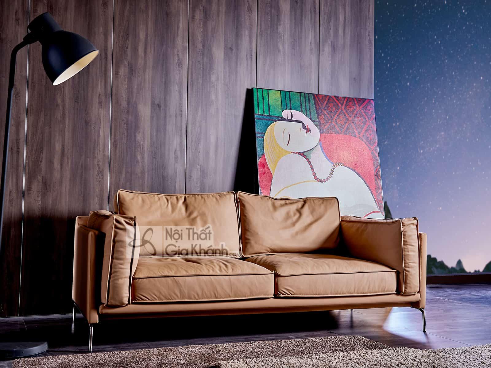 Ghế sofa da tự nhiên nhập khẩu 100% SB1905T-3