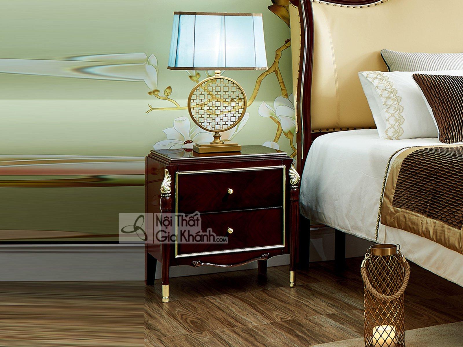 Tủ Đầu Giường Gỗ Đẹp Phong Cách Tân Cổ Điển Ta301