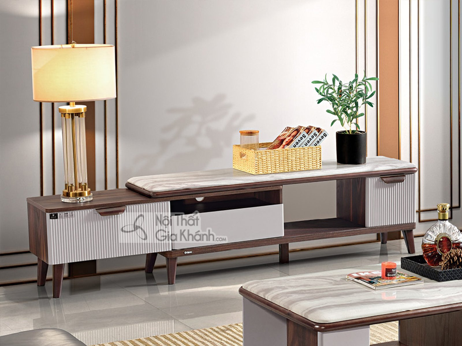 Kệ ti vi đẹp nhập khẩu nội thất phòng khách KT721D