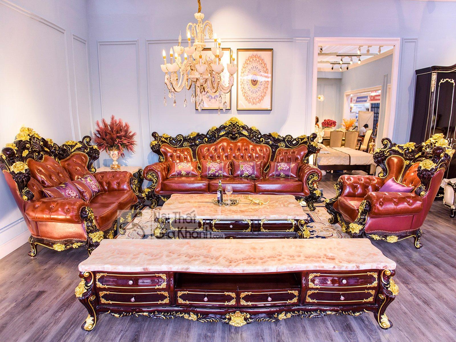 Bộ Sofa Dát Vàng - Kích Thước Khủng The King