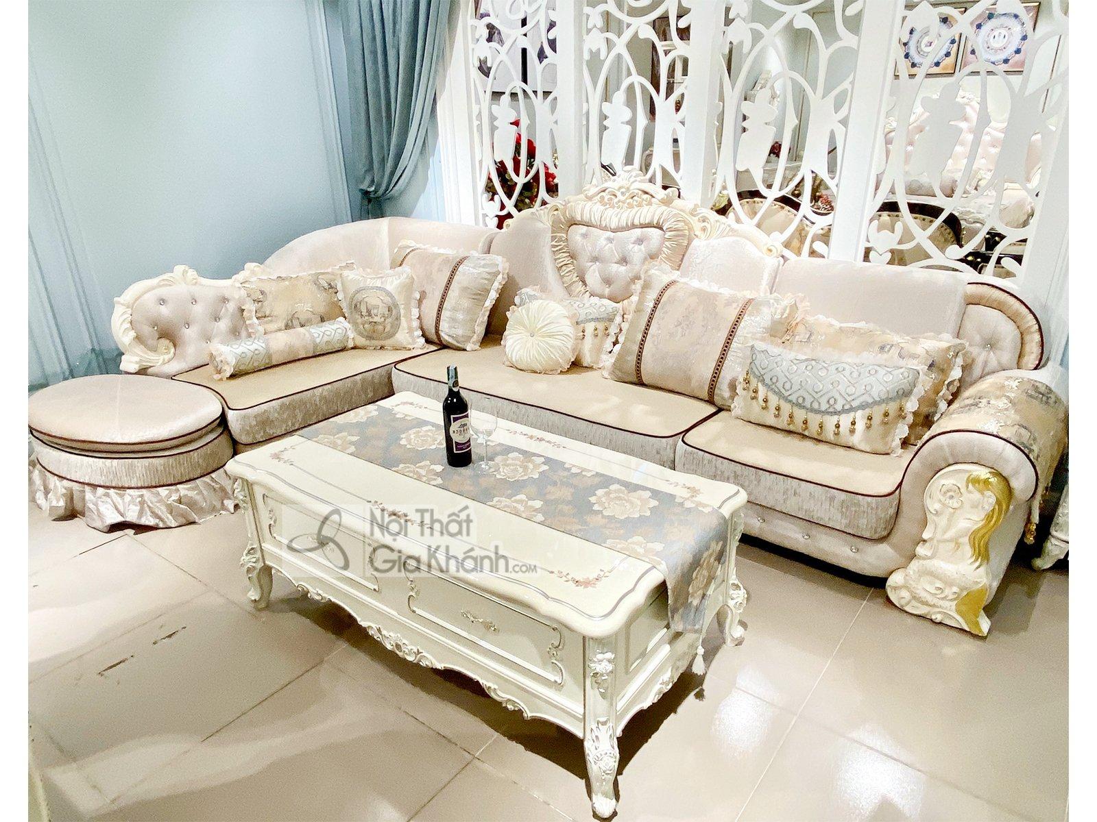 Bộ Sofa Nỉ Tân Cổ Điển Góc Phải Sp513-3