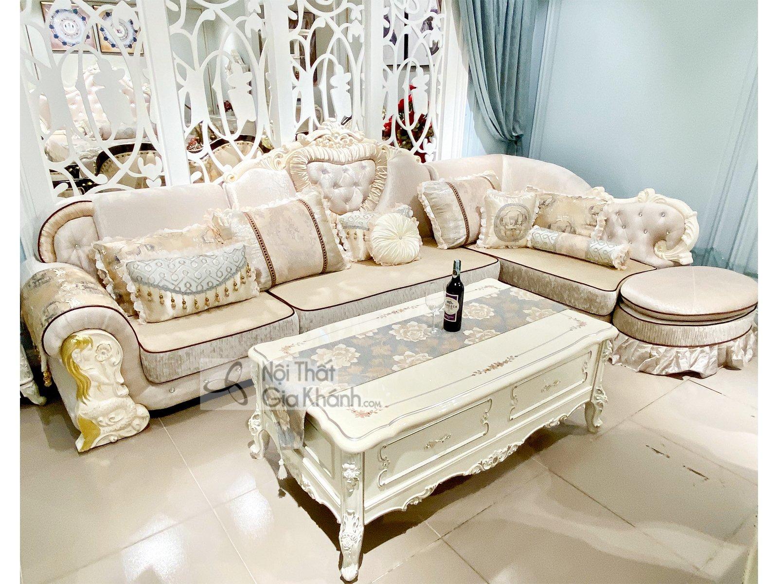 Bộ Sofa Nỉ Tân Cổ Điển Góc Trái St513-3