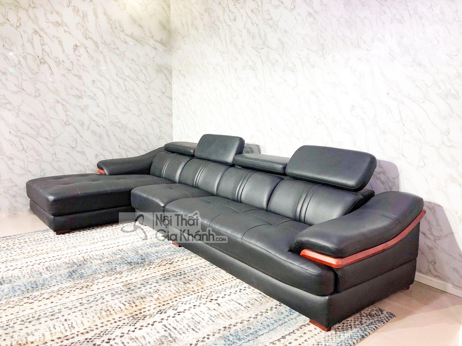 sofa da 3 bang goc phai phong khach 6724d sf 3 - SOFA DA 3 BĂNG GÓC PHẢI PHÒNG KHÁCH 6724D-SF