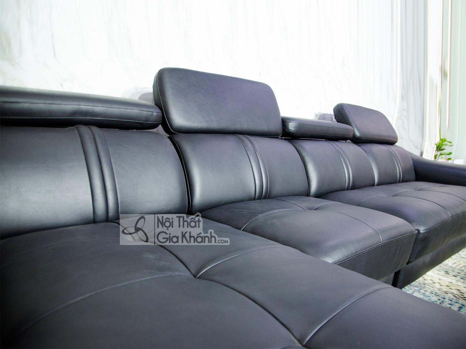 sofa da 3 bang goc phai phong khach 6724d sf - SOFA DA 3 BĂNG GÓC PHẢI PHÒNG KHÁCH 6724D-SF
