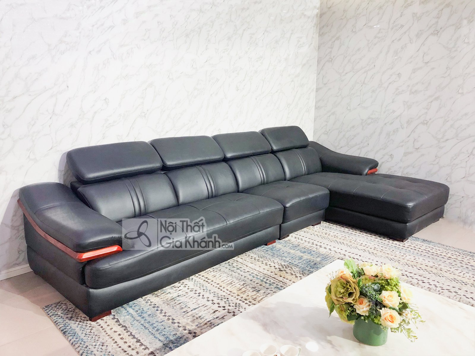 sofa da 3 bang goc trai phong khach 6725d sf 1 - SOFA DA 3 BĂNG GÓC TRÁI PHÒNG KHÁCH 6723D-SF