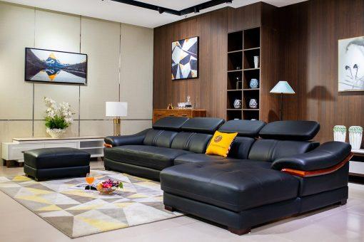 Sofa Da 3 Băng Góc Trái St0672-3-C1