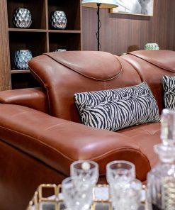 Sofa Da Góc Phải Màu Nâu Da Bò 9192B-Gp-N2096