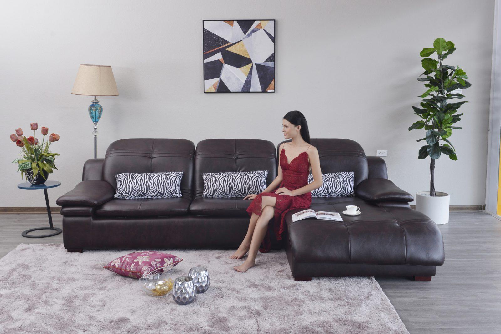 Sofa da hiện đại cho phòng khách ST0902-2-D1