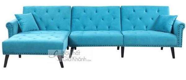 Sofa Mini Góc Nhỏ Màu Xanh